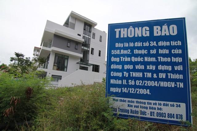 Công ty TNHH Thương mại- dịch vụ Thiên Nhân II bán đất đã thế chấp ngân hàng cho nhiều người. Ảnh: TL