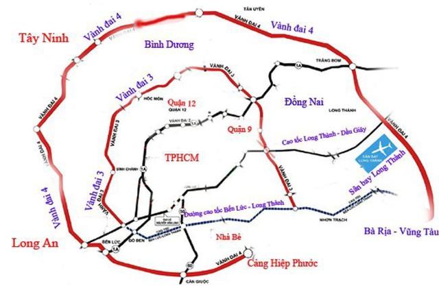 Quy hoạch các tuyến đường Vành đai khu vực TP HCM