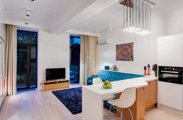 Không ai nghĩ rằng căn hộ này lại có diện tích chỉ 38m2. Mọi không gian trong nhà được bố trí linh hoạt tận dụng tối đa ánh sáng tự nhiên.