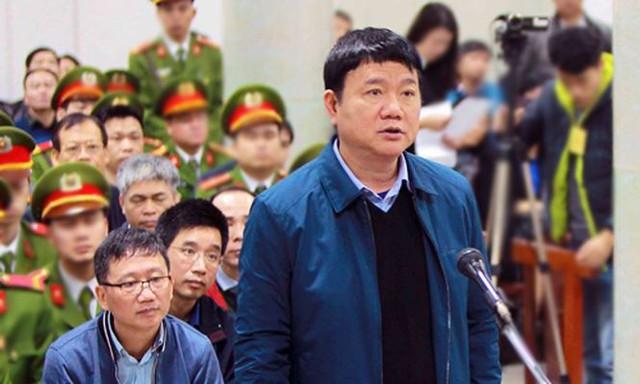 <br />Ông Đinh La Thăng tại phiên tòa sơ thẩm. Ảnh: TTXVN.<br />