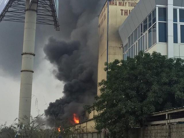 Cháy lớn kinh hoàng, khói bốc cao hàng chục mét tại Hải Dương - Ảnh 2.