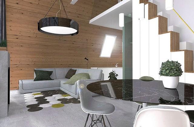 Một không gian thoải mái, ấm cúng và vô cùng tiện nghi. Các khu vực chức năng trong nhà được bố trí và phân chia khoa học.