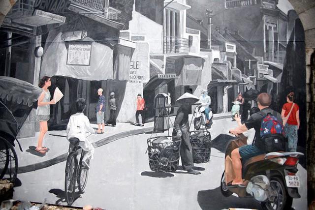 Hà Nội: Phố bích họa Phùng Hưng tái khởi động, hoàn thành trước Tết cổ truyền - Ảnh 12.