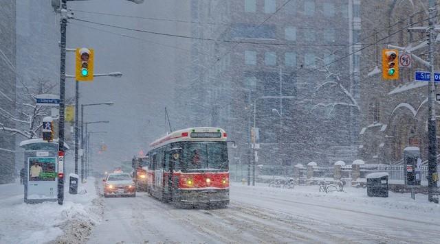 Tuyết rơi dày ở Canada