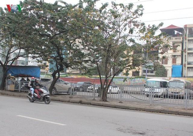 Điểm đỗ xe đường Trần Quang Khải, quận Hoàn Kiếm có rất nhiều ô trống.