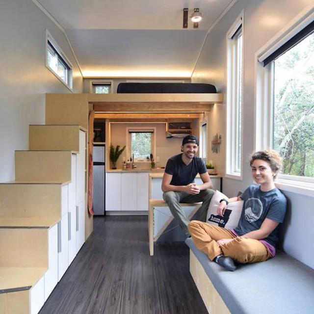 Cặp vợ chồng trẻ sống thoải mái và tiện nghi trong ngôi nhà 18m2 - Ảnh 3.