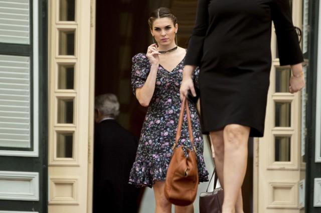 Với xuất thân người mẫu, Hope Hicks luôn biết cách ăn mặc đẹp và thời trang nhất có thể.