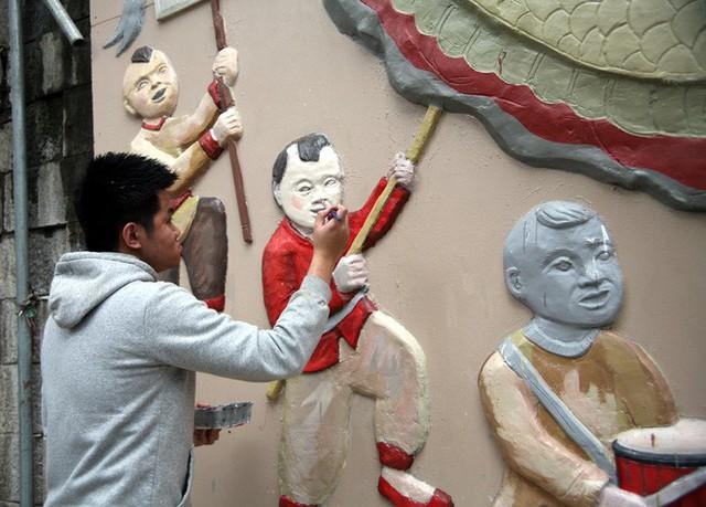 Hà Nội: Phố bích họa Phùng Hưng tái khởi động, hoàn thành trước Tết cổ truyền - Ảnh 4.