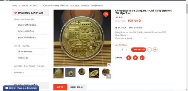 Đồng xu bitcoin được rao bán tràn lan trên mạng.