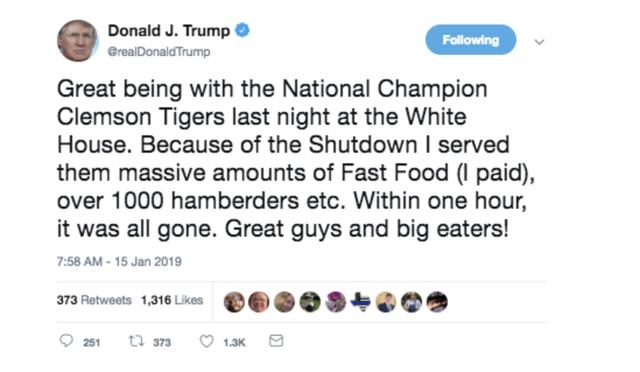 Viết sai chính tả, ông Trump bị Burger King trêu chọc - Ảnh 1.
