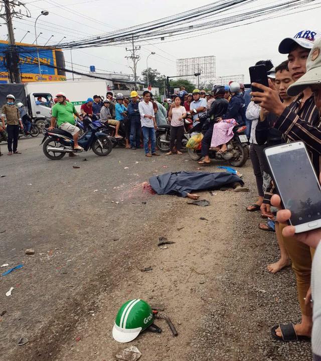 Chuyến xe định mệnh của tài xế GrabBike trước khi thiệt mạng dưới bánh container ở Long An - Ảnh 1.