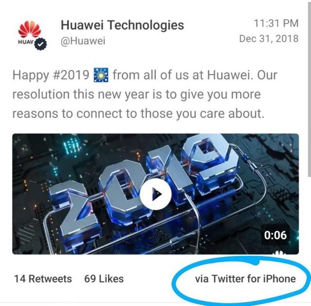 Huawei giáng chức, trừ lương nhân viên soạn tin chúc mừng năm mới bằng iPhone - Ảnh 1.