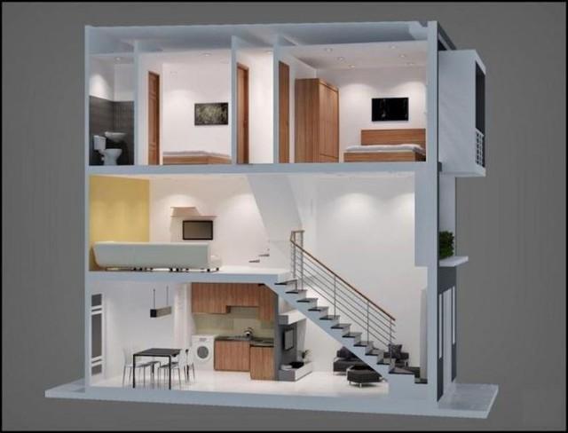 Mẫu nhà phố 1 trệt 1 lửng 1 lầu tuyệt đẹp, kinh phí thấp - Ảnh 4.