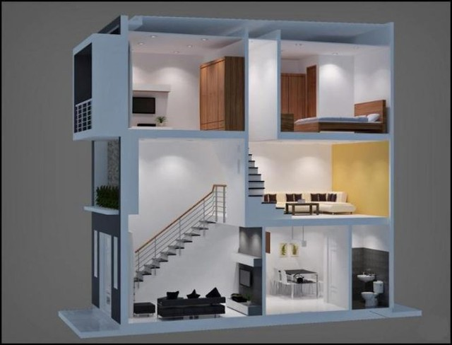 Mẫu nhà phố 1 trệt 1 lửng 1 lầu tuyệt đẹp, kinh phí thấp - Ảnh 5.