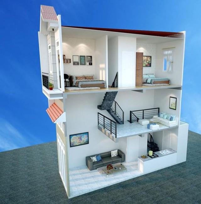 Mẫu nhà phố 1 trệt 1 lửng 1 lầu tuyệt đẹp, kinh phí thấp - Ảnh 6.