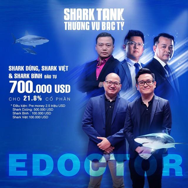 Đánh giá sản phẩm còn thiếu sót, 3 shark vẫn quyết định rót 700.000 USD cho nền tảng y tế eDoctor kèm điều kiện phải thay ngay CEO - Ảnh 3.