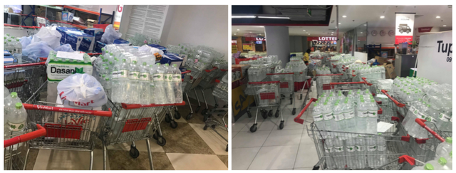 Người dân Hà Nội chi tiền triệu để mua nước khoáng đóng chai do ô nhiễm nước - Ảnh 1.
