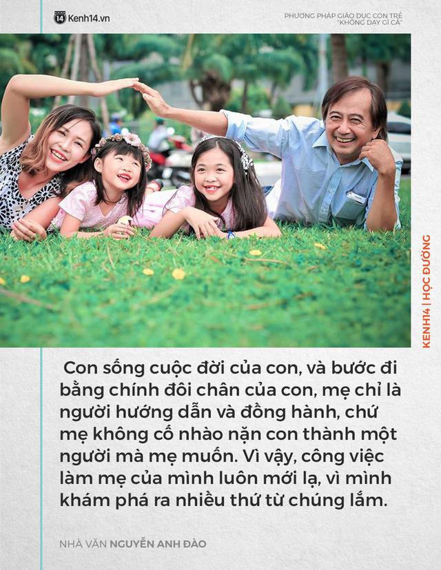 Phương pháp dạy con không dạy gì cả của nhà văn Nguyễn Anh Đào nhưng kết quả lại khiến nhiều người bất ngờ - Ảnh 2.