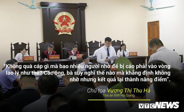 Infographic: Những phát ngôn dậy sóng dư luận trong phiên xử vụ án nâng điểm thi ở Hà Giang - Ảnh 1.