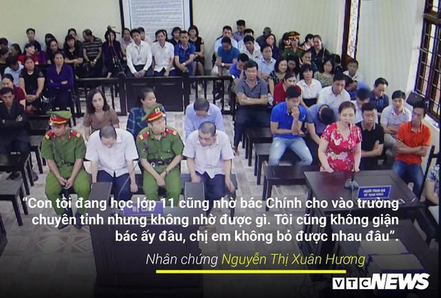 Infographic: Những phát ngôn dậy sóng dư luận trong phiên xử vụ án nâng điểm thi ở Hà Giang - Ảnh 2.