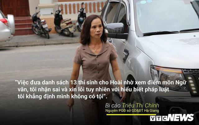 Infographic: Những phát ngôn dậy sóng dư luận trong phiên xử vụ án nâng điểm thi ở Hà Giang - Ảnh 4.