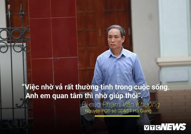 Infographic: Những phát ngôn dậy sóng dư luận trong phiên xử vụ án nâng điểm thi ở Hà Giang - Ảnh 8.