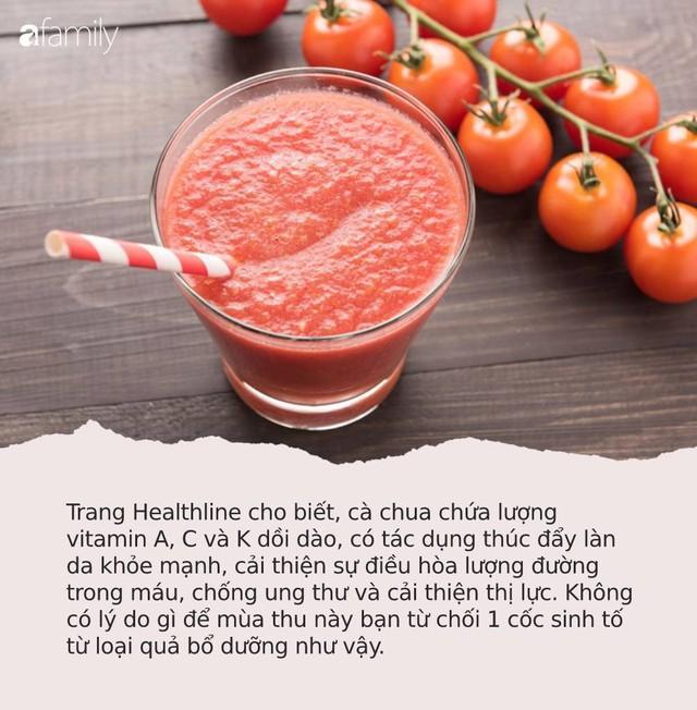 6 cốc sinh tố mát lành, ngọt lịm để bồi bổ sức khỏe trong mùa thu, chống lại mọi bệnh tật - Ảnh 4.