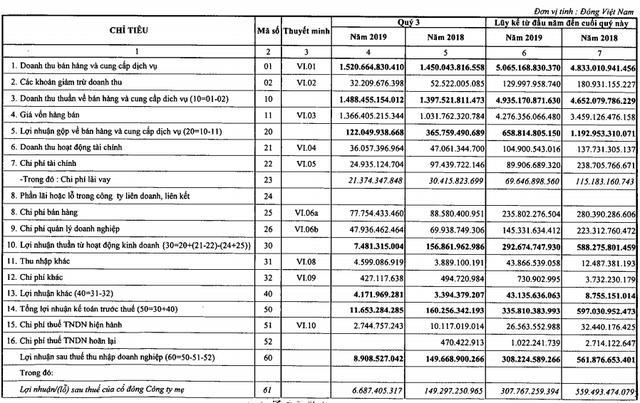 Đạm Cà Mau (DCM): Lợi nhuận quý 3 giảm 94%, cổ phiếu lao dốc mạnh - Ảnh 1.