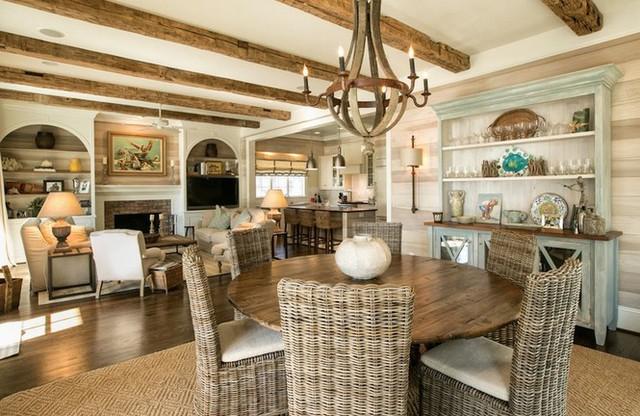 Các kiểu nội thất gỗ mộc vẫn khiến ngôi nhà đẹp nao lòng - Ảnh 8.