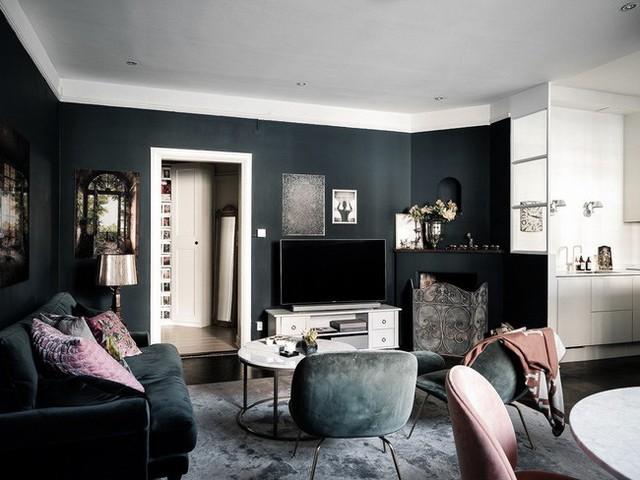 Căn hộ rộng 61m² đẹp bí ẩn, sang trọng nhờ bài trí sắc màu trung tính vô cùng ăn ý - Ảnh 3.