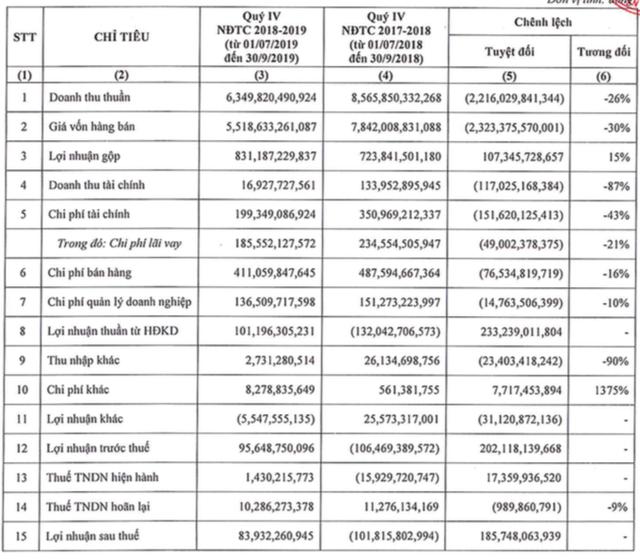 Niên độ 2018 – 2019 Hoa Sen Group (HSG) lãi 361 tỷ đồng giảm 12% so với cùng kỳ - ảnh 2