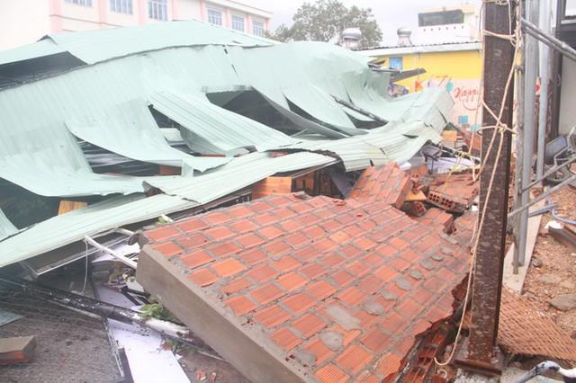 Sau bão số 5, cây cối đổ ngổn ngang, bãi biển Quy Nhơn ngập ngụa rác - Ảnh 7.