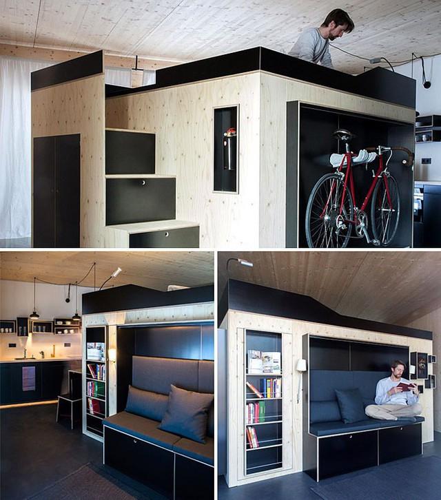 Những căn hộ siêu nhỏ, cực chất nhìn mê liền nhờ thiết kế thông minh - Ảnh 1.