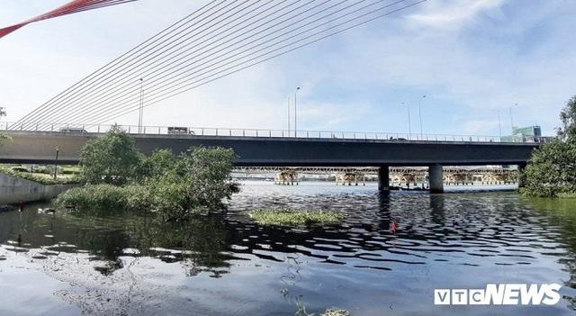 Công an lấy mẫu nước, điều tra thủ phạm xả thải 'đầu độc' sông Hàn - Ảnh 2.