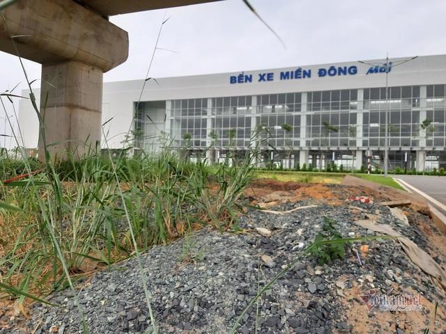 Cỏ dại um tùm bên trong bến xe hiện đại nhất Đông Nam Á của Sài Gòn - Ảnh 2.