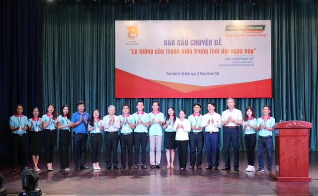 Nguyên Chủ tịch nước Nguyễn Minh Triết nói chuyện với thanh niên - Ảnh 2.