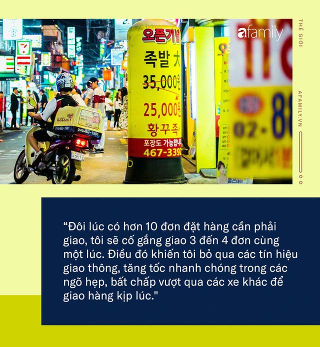 Mặt trái của dịch vụ giao đồ ăn nhanh ở Hàn Quốc: Văn hóa sống vội, thực khách kén ăn khiến nhiều shipper trả giá bằng cả mạng sống nhằm mang lại trải nghiệm ẩm thực tốt nhất! - Ảnh 3.