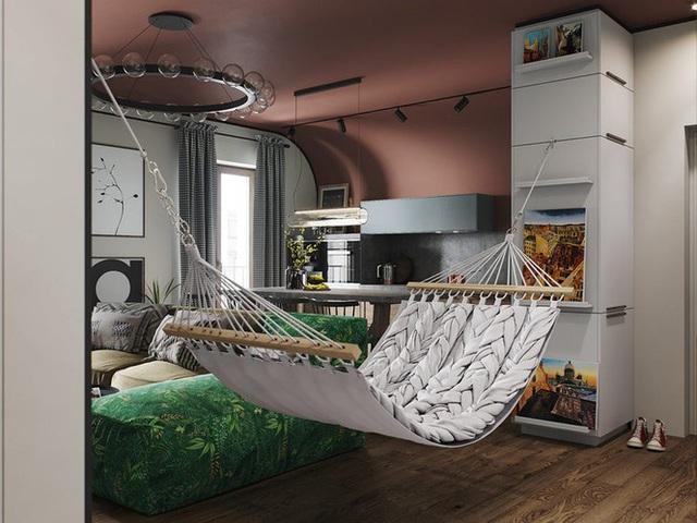 Vẻ đẹp khác lạ của căn chung cư có cách trang trí không giống ai - Ảnh 4.