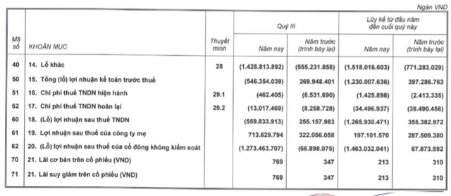 Bán đi một loạt khoản đầu tư, HAGL lãi ròng 714 tỷ đồng trong quý 3dù lợi nhuận trước thuế âm - Ảnh 1.
