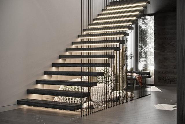 Những mẫu cầu thang phiêu diêu như cung đàn, ngắm mãi không chán - Ảnh 3.