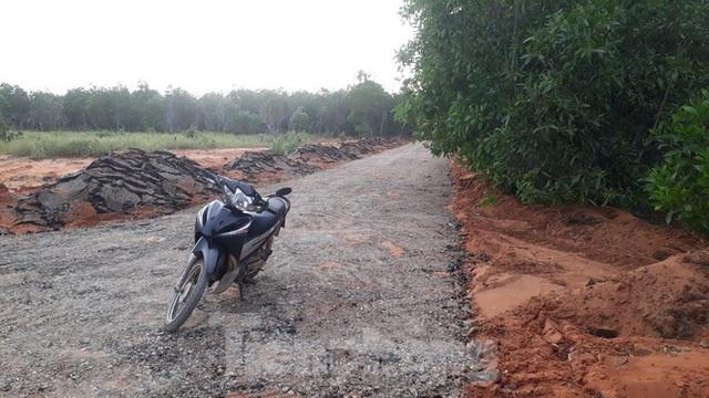 Dân tự ý làm đường nhựa trên đất nông nghiệp để phân lô bán nền ở Phan Thiết - Ảnh 1.