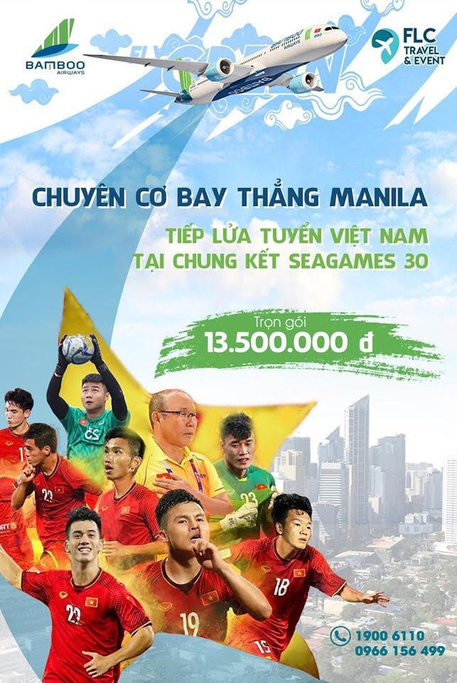 Bamboo Airways khai thác chuyến bay đến Philipines phục vụ SEA Games 30 - Ảnh 1.