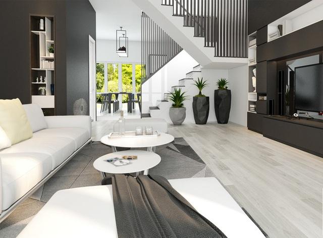 Ngôi nhà có nội thất hai màu đen trắng tuyệt đẹp - Ảnh 3.