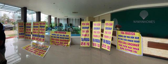Băng rôn treo kín dự án Cocobay, khách hàng gửi đơn kiện lên Tòa án nhân dân Hà Nội: Thành Đô tuyên bố đơn phương hủy hợp đồng nếu hạn chót 30/12 khách hàng không chịu kí phương án - Ảnh 3.