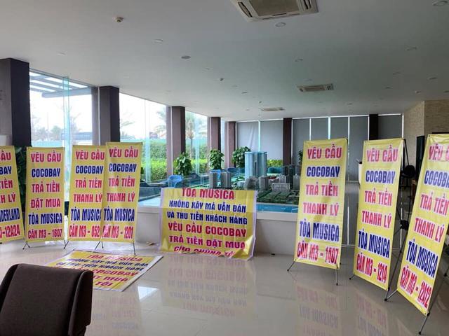 Băng rôn treo kín dự án Cocobay, khách hàng gửi đơn kiện lên Tòa án nhân dân Hà Nội: Thành Đô tuyên bố đơn phương hủy hợp đồng nếu hạn chót 30/12 khách hàng không chịu kí phương án - Ảnh 4.