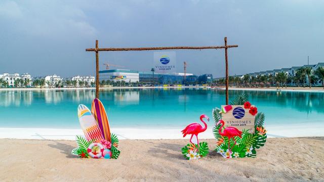 Cận cảnh khu đô thị tại Hà Nội có biển hồ nước mặn và hồ nước ngọt nhân tạo trải cát trắng lớn nhất thế giới - Ảnh 15.