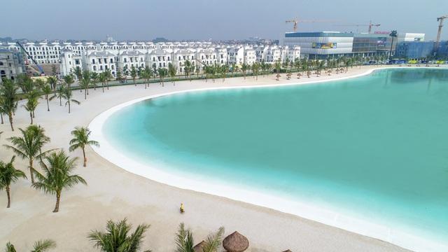 Cận cảnh khu đô thị tại Hà Nội có biển hồ nước mặn và hồ nước ngọt nhân tạo trải cát trắng lớn nhất thế giới - Ảnh 13.