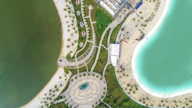 Cận cảnh khu đô thị tại Hà Nội có biển hồ nước mặn và hồ nước ngọt nhân tạo trải cát trắng lớn nhất thế giới - Ảnh 12.