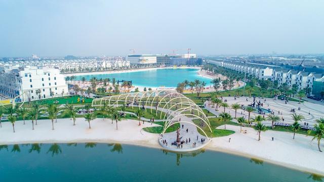 Cận cảnh khu đô thị tại Hà Nội có biển hồ nước mặn và hồ nước ngọt nhân tạo trải cát trắng lớn nhất thế giới - Ảnh 5.