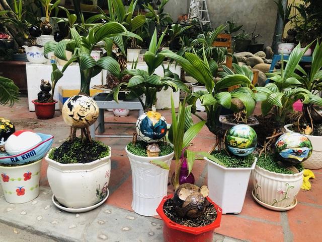 Biến quả dừa khô bỏ đi thành bonsai chuột tiền triệu, chàng thanh niên lãi đậm dịp Tết 2020 - Ảnh 9.